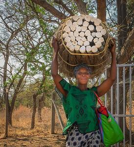 Swazi Woman With Sticks