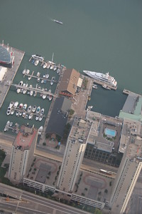 Yatch Club, Lake Ontario, from CN Tower