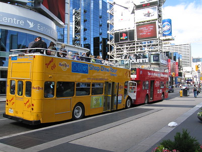 Two Deck Buses, Dundas Square.