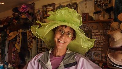 Jo-Anne trying on a hat...WOW