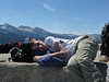 Action shot - sleeping at the staging area of Half Dome