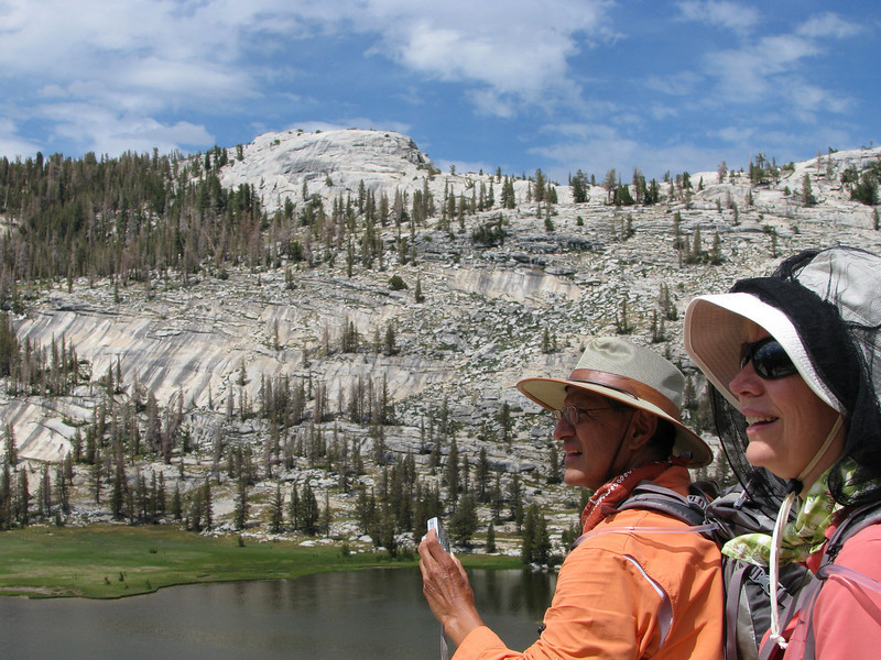 "Hikers captured on lower ""Third"" line to allow the majestic Yosemite landscape to share equal billing"