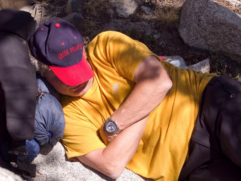 Resting during break before reaching Cloudripper camp