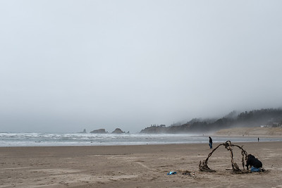10 Feb: On the beach at Cannon Beach.