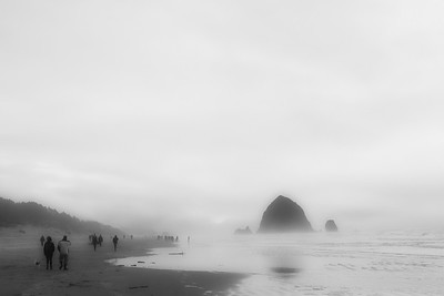 11 Feb: Foggy day at Cannon Beach