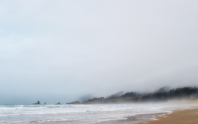 12 Feb: Cannon Beach, dreamy in the fog
