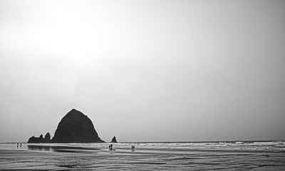9 Feb: Haystack Rock in Cannon Beach