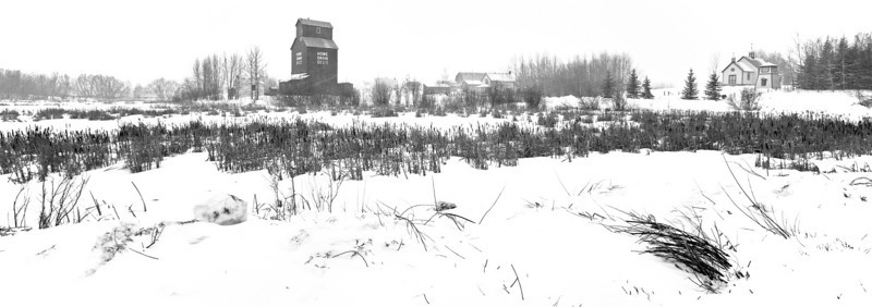 Lost between the snow and the sky (Ukrainian Village, Alberta, Canada, 2011)