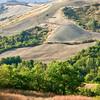 Pastures on a ridge (SP della Sforzesca NE of Castell'Azzara, Italy 2011)