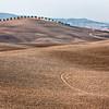 Ploughed fields (Biancacamicia,  SP della Montagna S of Pienza, Italy 2011)