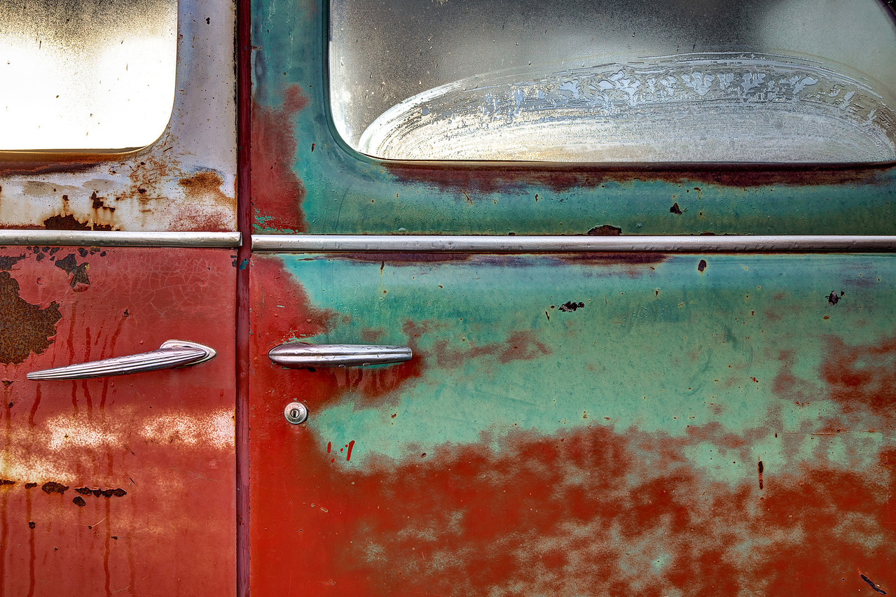 Under the frosty glass (Aldon Auto Salvage, Lamont, Alberta, Canada 2012)
