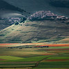 Catching last ray of Sun (Castelluccio above Piano Grande di Castelluccio, Italy 2012)