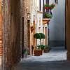 Narrow street in the morning (Pienza, Italy 2012)