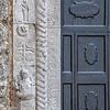Ancient duomo entrance (Sovana, Italy 2012)
