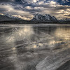Frozen lake (Abraham Lake, Preachers Point, Alberta, Canada 2012)