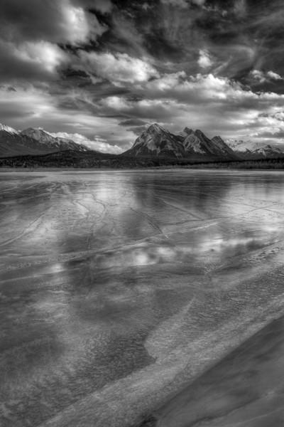 Frozen lake (Abraham Lake, Preachers Point, Alberta, Canada 2012)