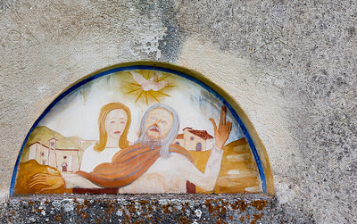 Pastoral church fresco
