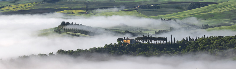 Emerging from the clouds (seen from Strada di Vignoni, Italy 2013)