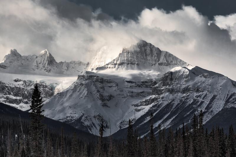 Kissed by the rising Sun (from Thompson Highway near Saskatchewan Crossing, Banff National Park, Alberta, Canada 2013)