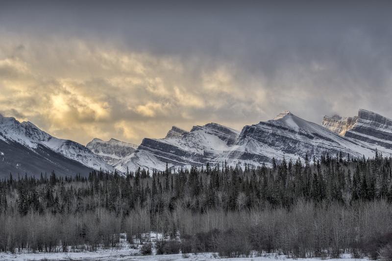 Morning over Rockies (Abraham Lake, Preachers Point, Alberta, Canada 2013)