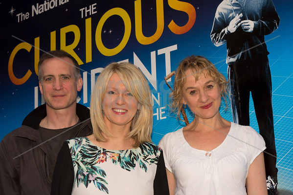 Nick Sidi, Esther McVey (The Minister for Disabled People), Niamh Cusack, The curious incident of the dog in the night-time, SOLT, Photographer Bronac McNeill_22Jun2013