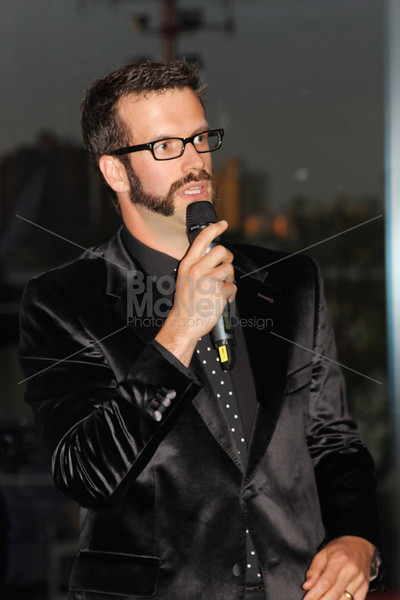 Marcus Brigstocke, Eaves the Sky is the Limit, Charity Dinner, Hotel Verta, London's Vertical Gateway, Battersea, London.
