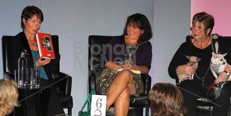 Celia Imrie, Arabella Weir & Jenni Murray, You Mag Book Day, Radisson Edwardian Bloomsbury Street Hotel, London, 14th May 2011. ©BronacMcNeill