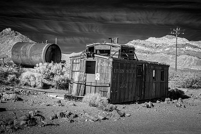 Union Pacific railroad car, Rhyolite, Nevada