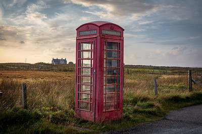Telephone box, North Uist