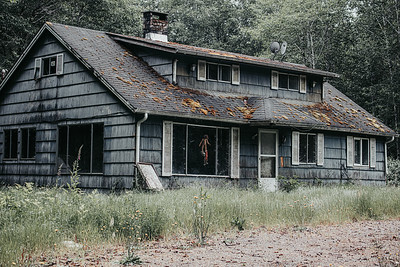 Scary Clown House. Forks, Washington