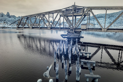 Swing Bridge, Raymond, Washington