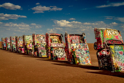 Cadillac Ranch, Amarillo, Texas.