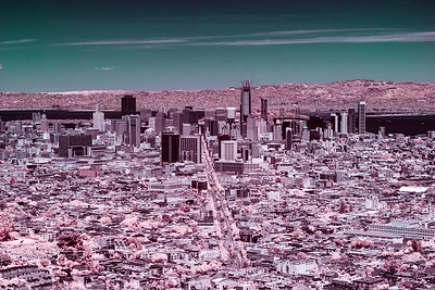 San Francisco in Pink & Turquoise