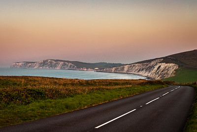 Freshwater Bay and Tennyson Down from the Military Road, Isle of Wight