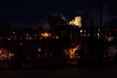 Lewes Castle by night