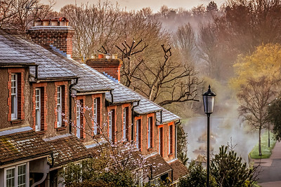 Morning Mist rising over St. John's Hill