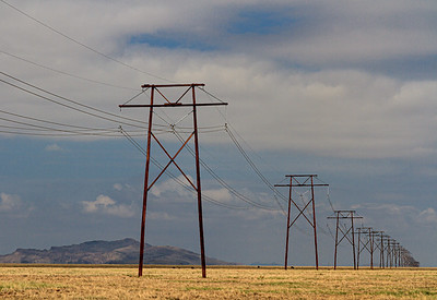 Pylons. Deming, New Mexico.