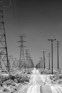 Pylons, Mojave desert