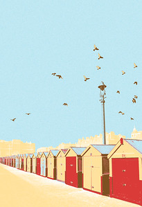 Hove Beach Huts (Limited Edition of 10)