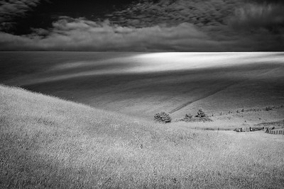 Mount Caburn light and cloud