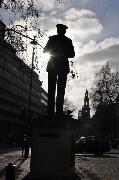 Practising with the Shutter setting:<br /> <br /> ACM Hugh Dowding looking down the Strand