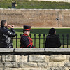 Practising with the AF-C mode - focusing on the Yeoman Warder as she walks back into the Tower of London