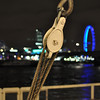 Practising with the Aperture setting:<br /> <br /> Pulley on a Thames boat