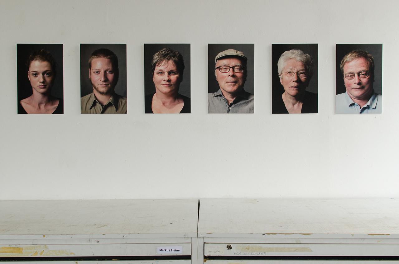 Portraits, photographic studio, University of Siegen