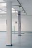 """""""Rückblick"""" (Looking Back), photography fixed on a pillar, two pieces, inkjet print on forex (294 cm x 30 cm)"""