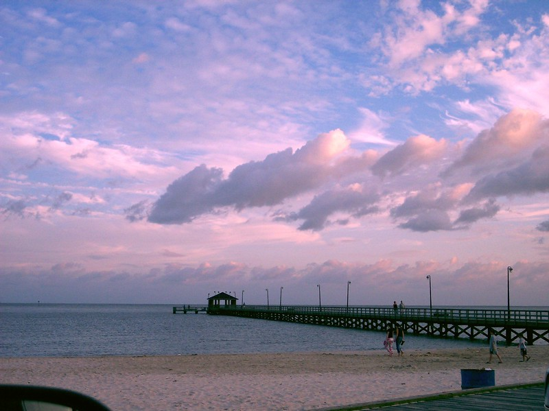 Biloxi Mississippi Pier at sunset