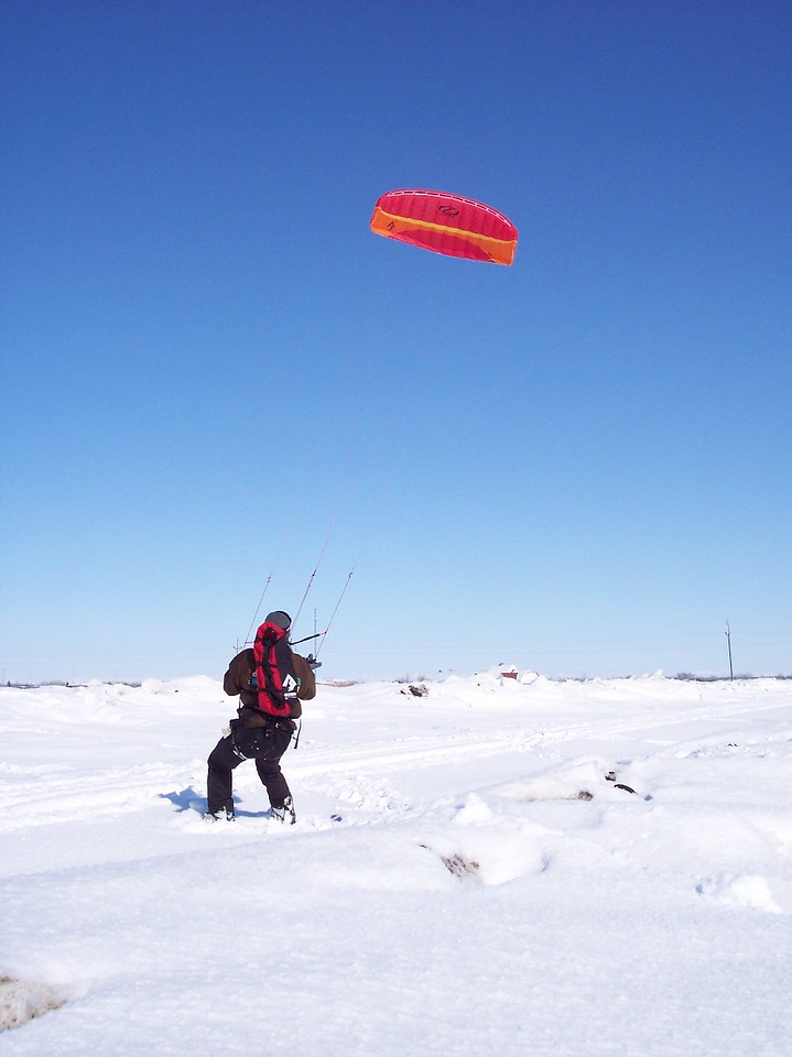 Parasailing Snowboarder