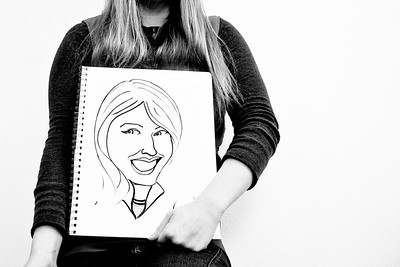 January 21, 2012. Day 15.  Katie drew a caricature of me, and I think she did an amazing job!  At a quilt retreat in Anchorage, Alaska