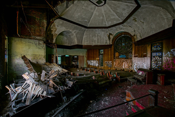 Abandoned church in Brownsville, Pa.