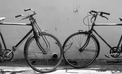 Bikes  From 35mm B&W negative